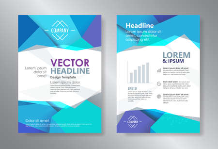 booklet design: Template polygon abstract design magazine brochure  booklet cover annual report vector Illustration
