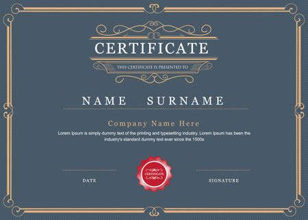 Certificate achievement frame border elegant flourishes template Vektorové ilustrace