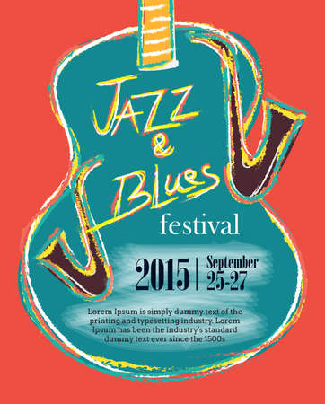 blues: Jazz and Blues Hand Drawn Poster Illustration