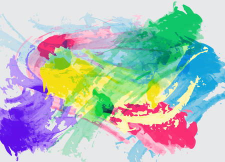 colorful background: Joyful abstract colorful ink splatter background