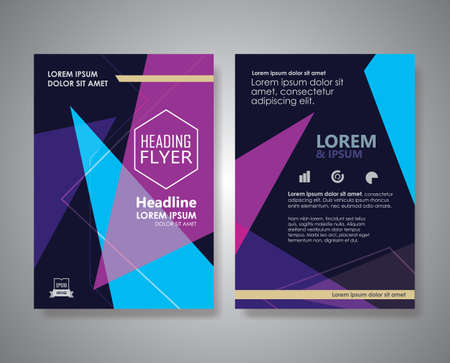 Flyer design Layout Abstract Triangle shape Brochure Poster vector template