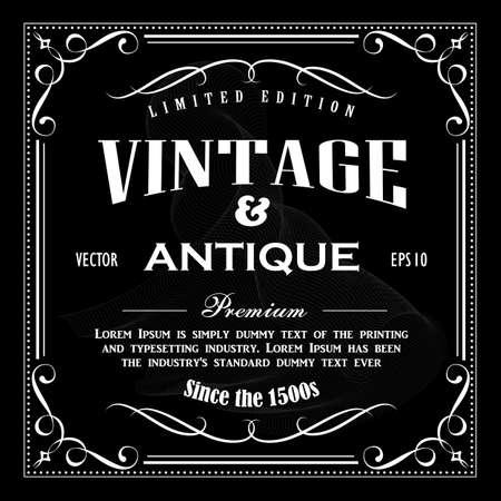 Vintage rama ręcznie rysowane granica tablica transparent wektor ilustracja Ilustracje wektorowe