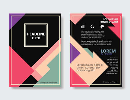 Flyer design vintage Abstract Triangle shape Layout  Poster Brochure vector template 向量圖像