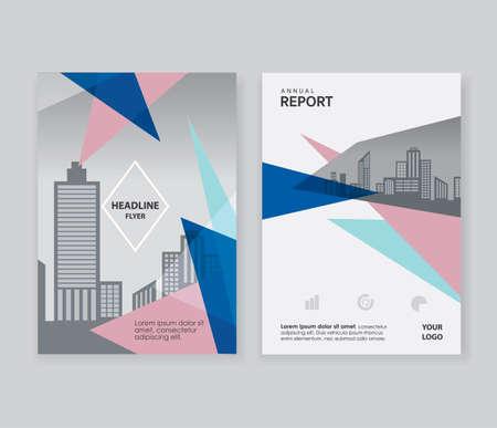 Quartz Triangle shape annual report Brochure Leaflet Flyer design layout template Ilustracja