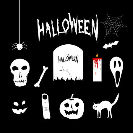 Halloween hand draw element vector illustration