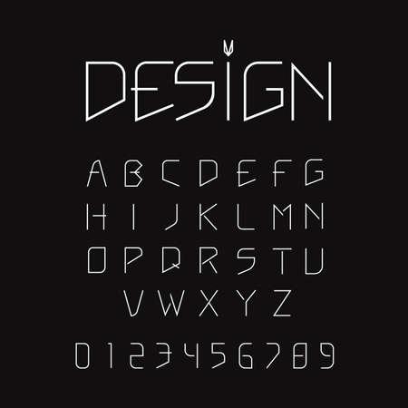 Minimalist Modern alphabet font design vector