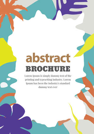 Abstract brochure hand drawn wild background design vector illustration