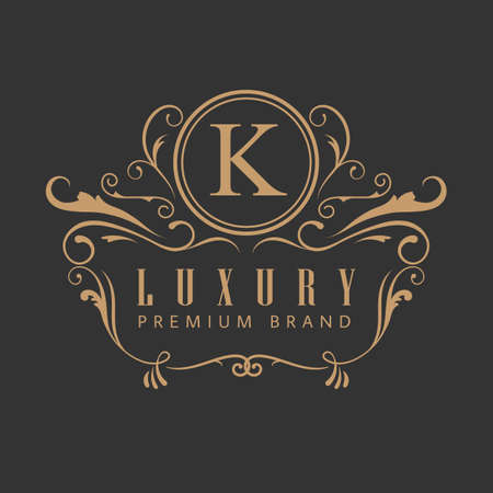 luxury elegant design vintage label vector illustration 向量圖像