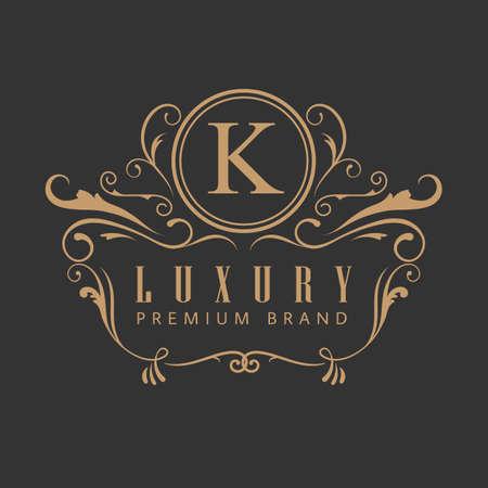 luxury elegant design vintage label vector illustration Ilustração