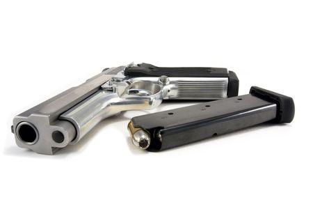 Semi-Auto Handgun with Loaded Clip photo