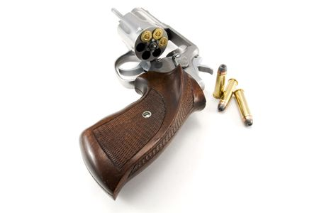 Stainless Steel Revolver with Ammunition photo