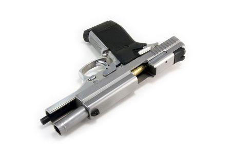 Stainless Steel Handgun with open Action photo