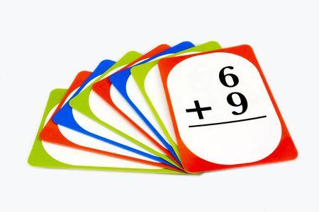 Multi-Colored Math Flash Cards