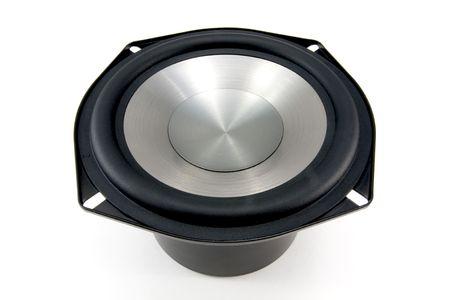 titanium: Isolated Raw Titanium Stereo Loudspeaker Woofer