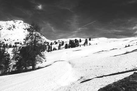 swiss alps: Snowy Peak in Swiss Alps