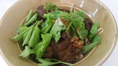smolder: Beef Noodle Soup Stock Photo