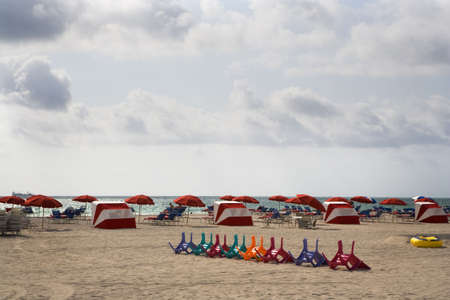 Colorful Chairs & Umbrellas photo