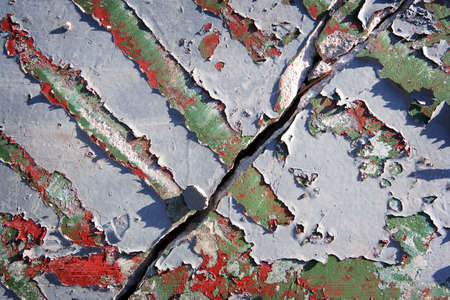 Empty Tropical Trailer Park Peeling Paint Stock Photo - 6099837