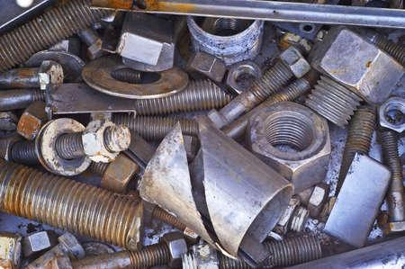 Scrap Nuts & Bolts Stock Photo - 7112772