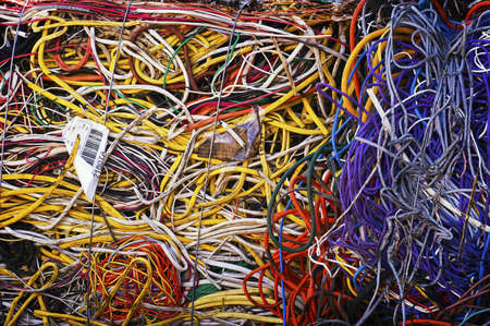 Colorful Bales of Scrap Wire Stock Photo - 7112773
