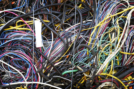 Bundle of Scrap Wire Ready to be Recycled Stock Photo - 7112771