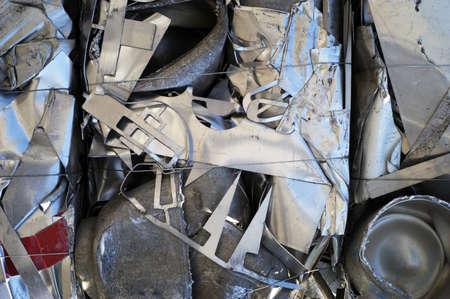 Close-Up of Scrap Metal Bale Stock Photo - 7112766