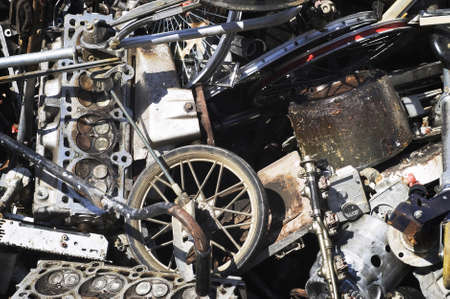 Engines & Scrap Metal ready for ReCycling