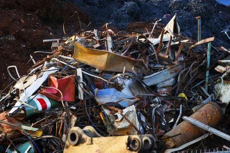 scrap metal: Pesanti Industrial Metal ferrailleurs per il riciclaggio