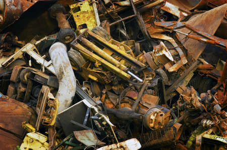 Heavy Industrial Scrap Metal Mountain for Recycling photo
