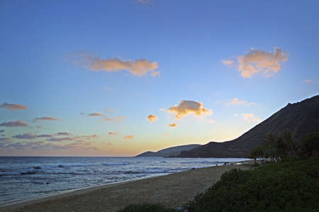 Wawamalu Beach Sunset, Oahu, Hawaii photo