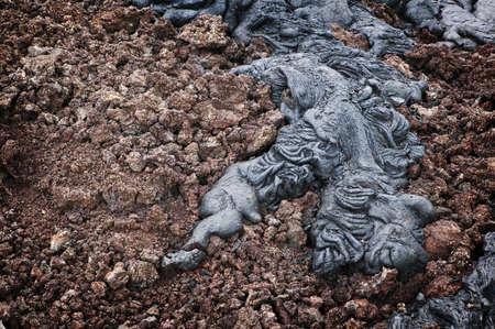 Rope Lava & Pumice, Volcanoes National Park, Hawaii Stock Photo - 7814770