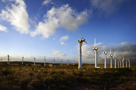 Wind Turbines and Clouds, Big Island of Hawaii photo