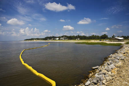 oil worker: Yellow Oil Boom & Quiet Bay, Mississippi
