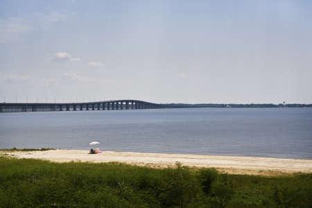 Quiet Beach & Bay, Gulf Coast Stock Photo - 7774844