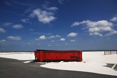 Big Red Dumpster, Gulf Coast Beach photo
