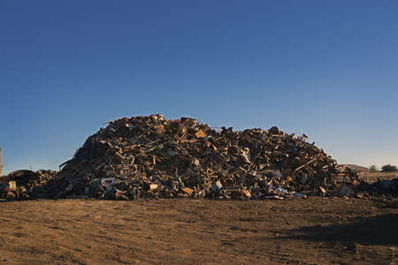 Giant Pile of Scrap Metal Stock Photo - 8396741