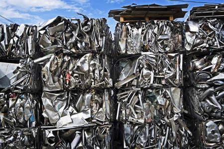 Bales of Compressed Scrap Metal