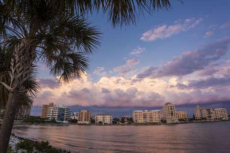 Sunset over Downtown Sarasota