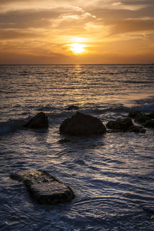 Sunset   Rocks at Siesta Key Beach  photo