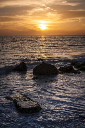 Sunset   Rocks at Siesta Key Beach  photo