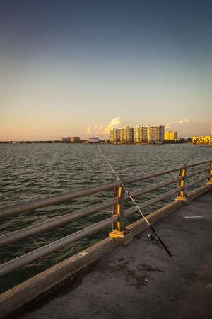 Fishing Pole against the Rail