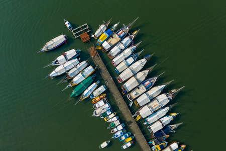 boats in Paraty seen from above, Rio de Janeiro, Brazil