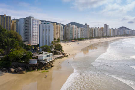 Asturias beach in Guaruja, Sao Paulo 版權商用圖片