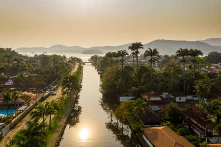 dawn in the city of Paraty, Rio de Janeiro, Brazil