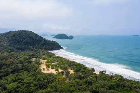 Felix beach, Ubatuba, Sao Paulo, Brazil, drone image