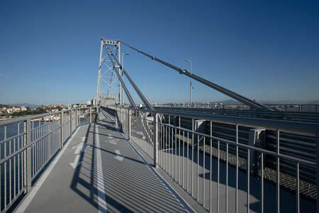 Hercilio Luz bridge, Florianopolis, Santa Catarina, Brazil Stock Photo