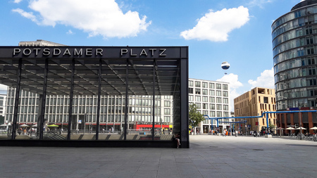 Potsdamer Platz square in Berlin, Germany Éditoriale