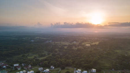 Sunrise Shot Aerial Shot East of Dasmari�as Cavite Philippines