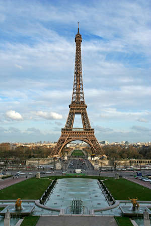 The Eiffel tower as seen from the Trocadero square - Paris, France Stock Photo - 366479