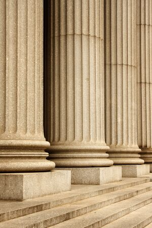 Columns of the Supreme Court building - New York City, USA